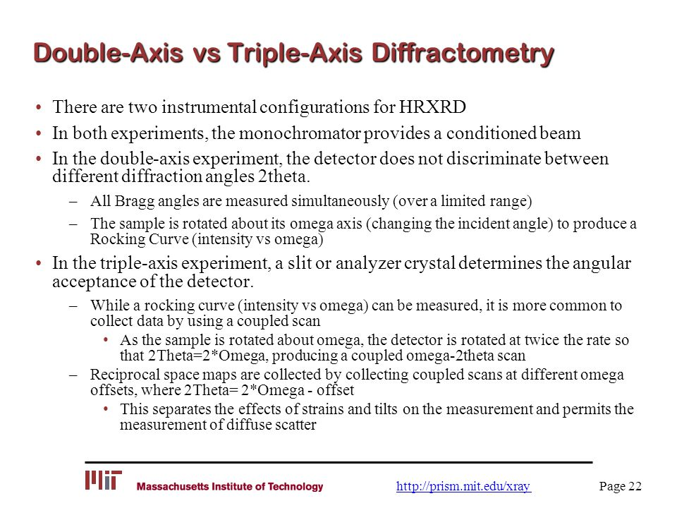 Double-Axis vs Triple-Axis Diffractometry