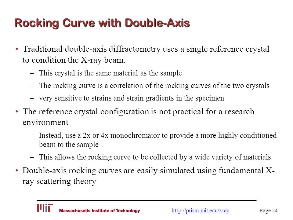 Rocking Curve with Double-Axis