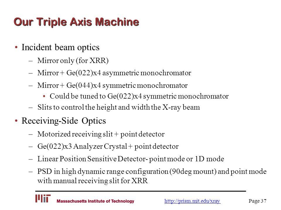Our Triple Axis Machine