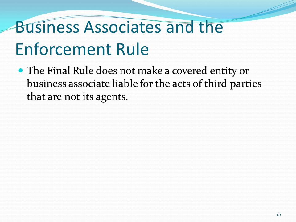 Business Associates and the Enforcement Rule