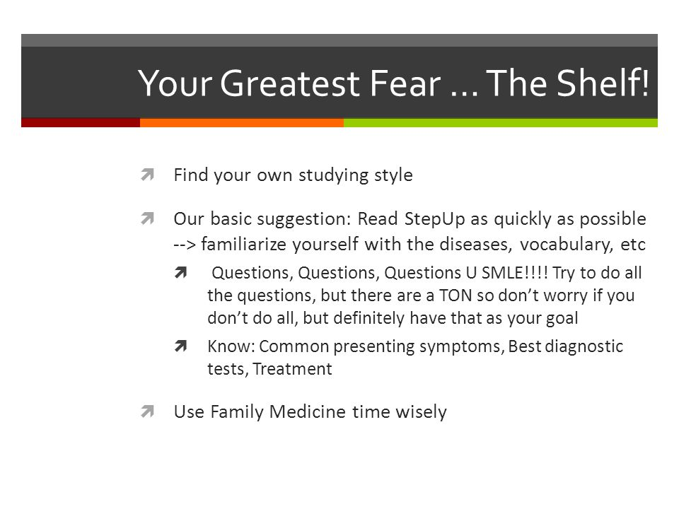 Your Greatest Fear … The Shelf!