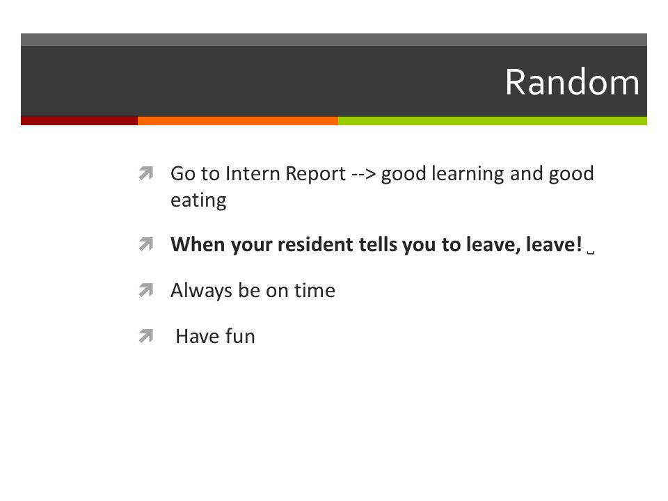 Random Go to Intern Report --> good learning and good eating