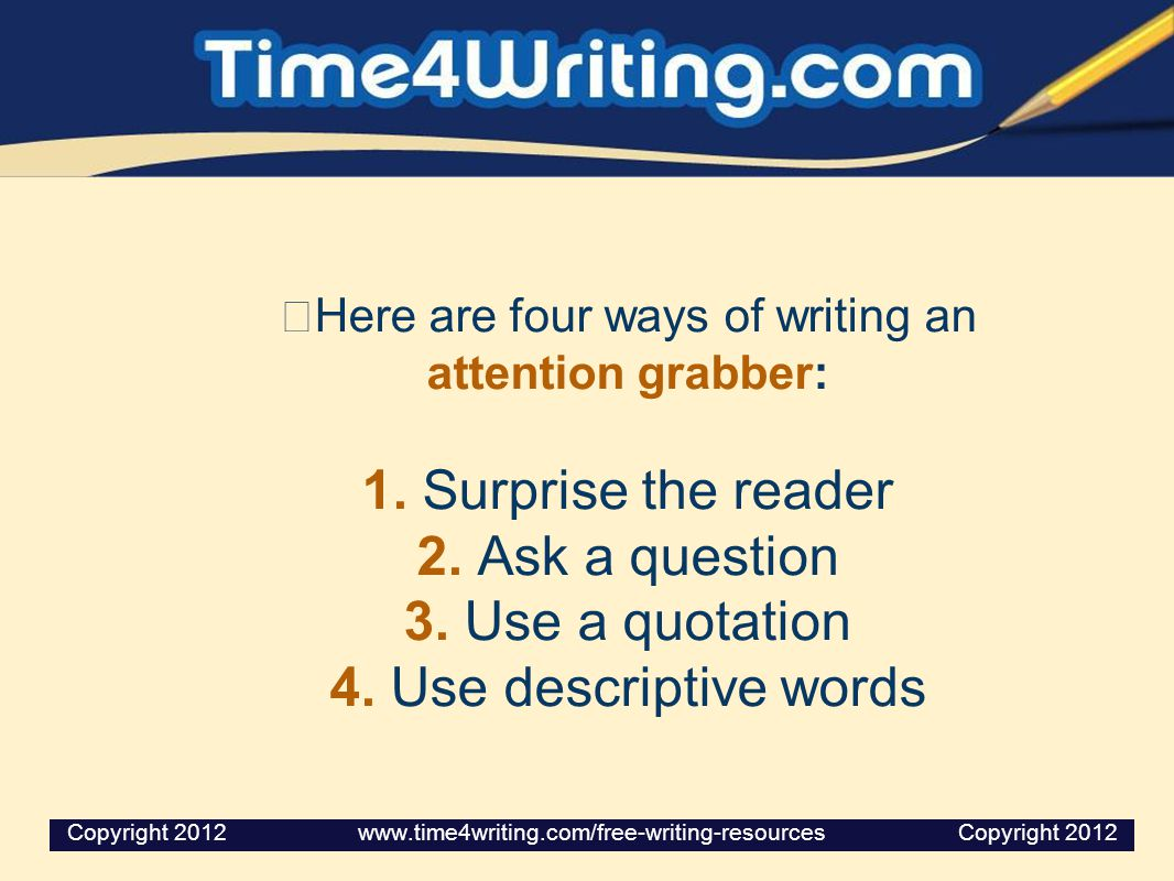 Here are four ways of writing an