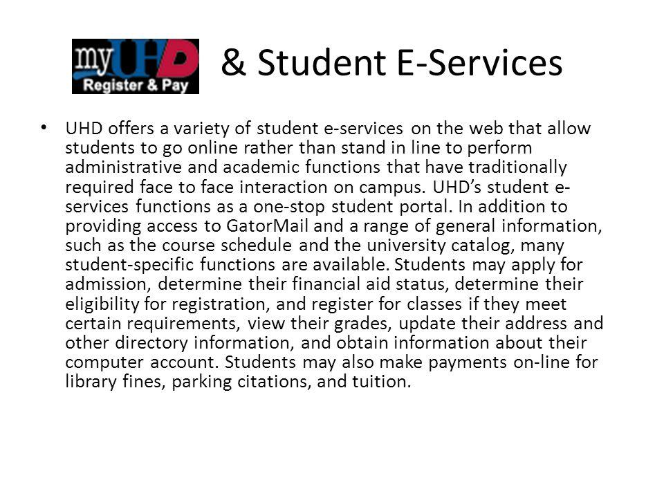 & Student E-Services