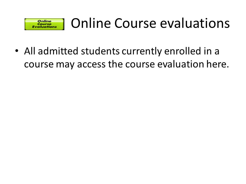 Online Course evaluations