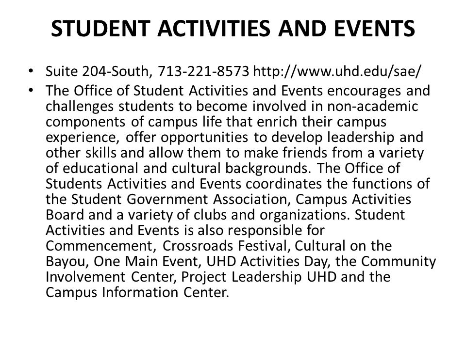 Student Activities and Events
