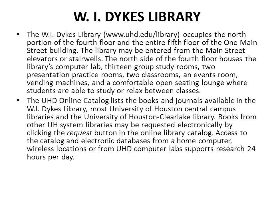 W. I. Dykes LIbrary