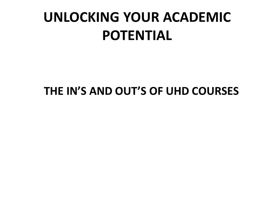 Unlocking Your Academic Potential