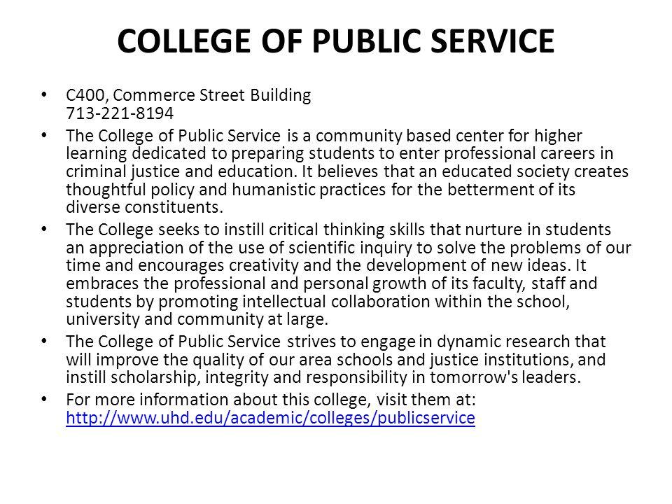 College of Public Service