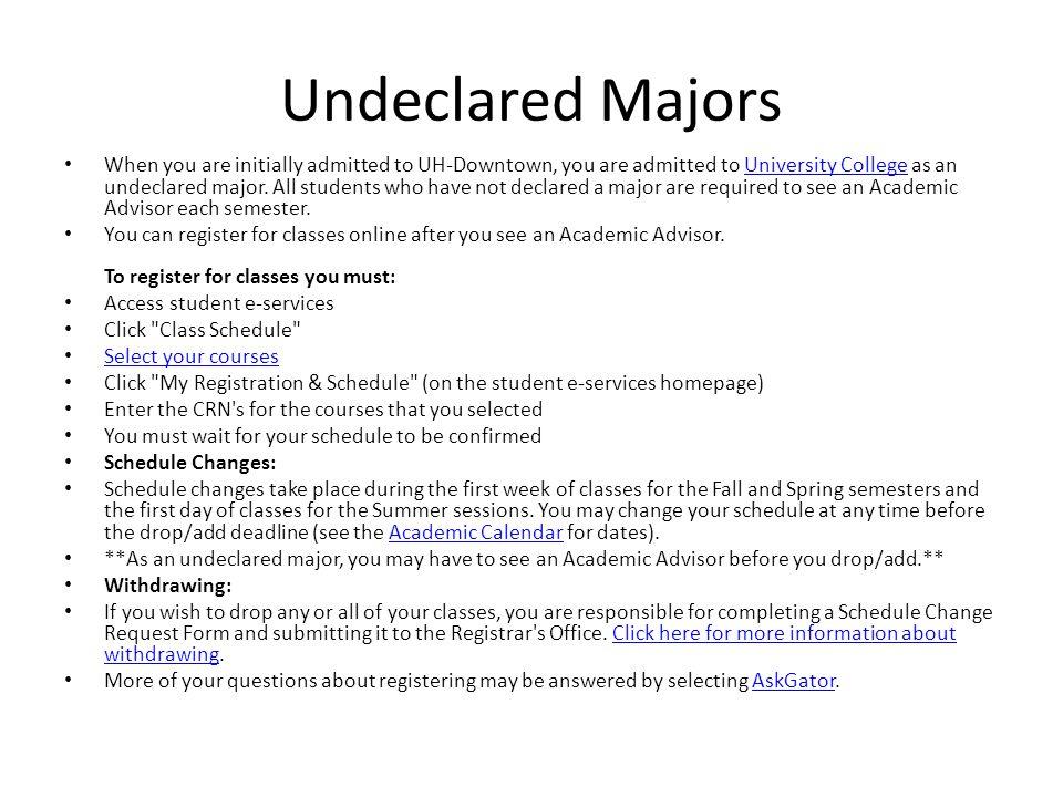 Undeclared Majors