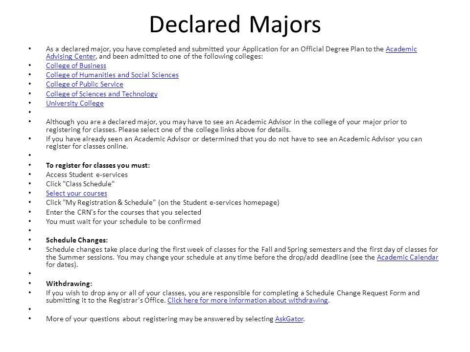 Declared Majors