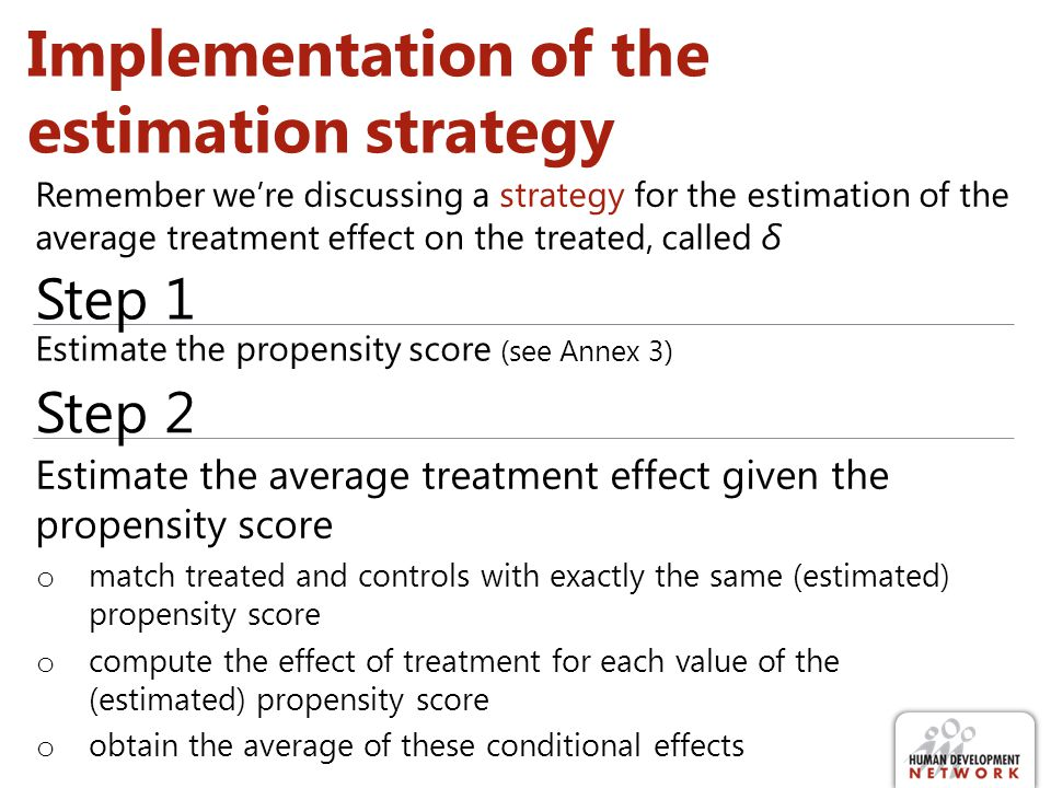 Implementation of the estimation strategy
