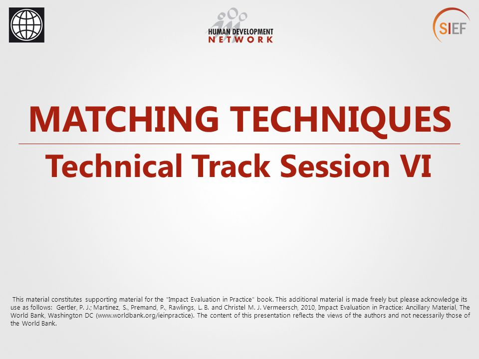 Technical Track Session VI