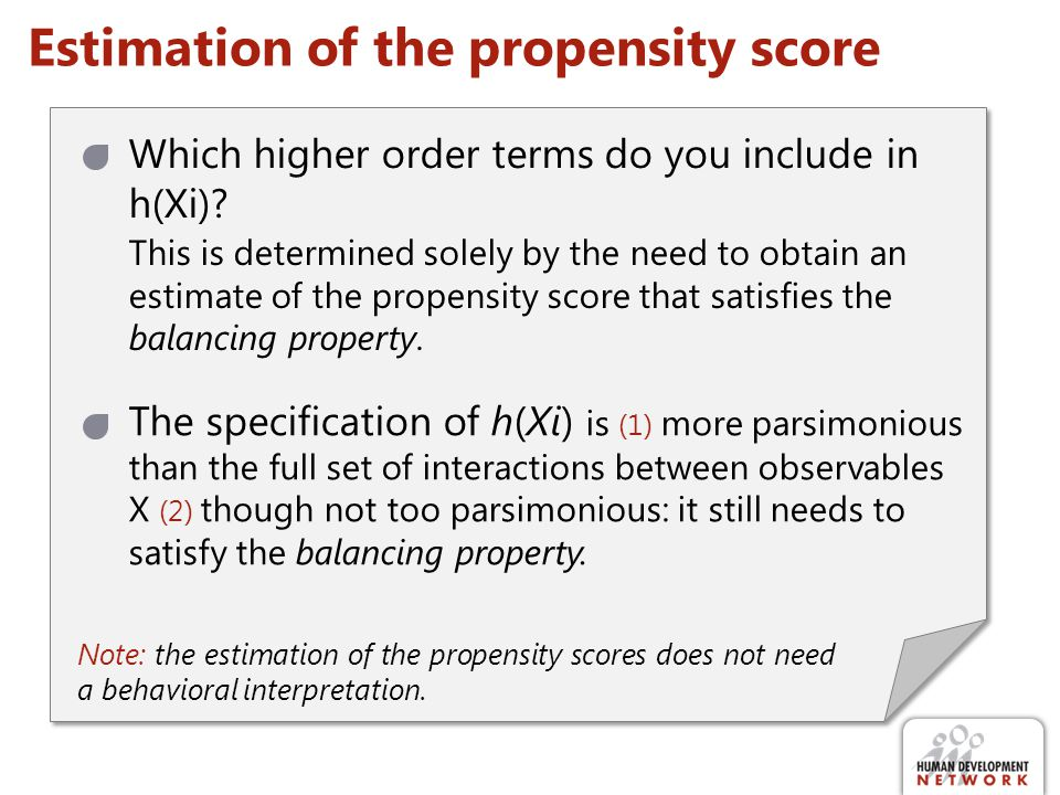 Estimation of the propensity score
