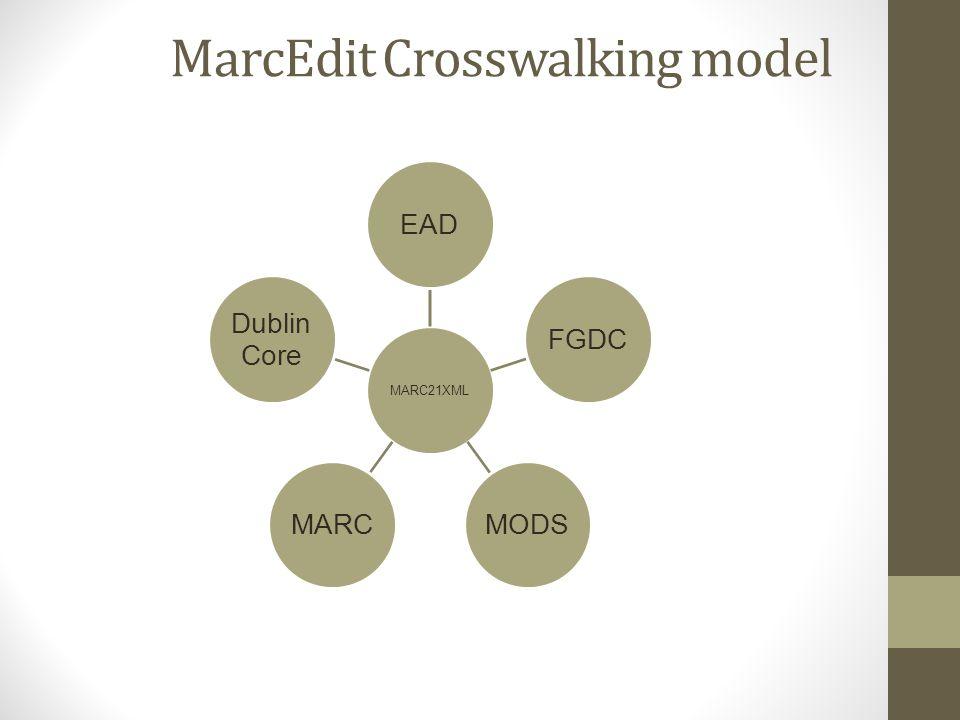 MarcEdit Crosswalking model