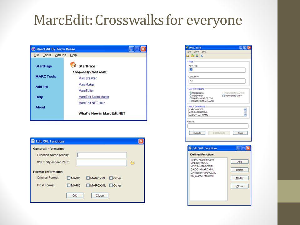 MarcEdit: Crosswalks for everyone
