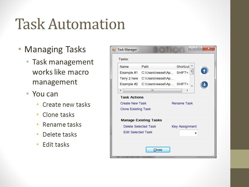 Task Automation Managing Tasks