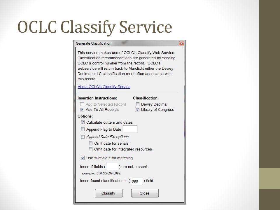OCLC Classify Service