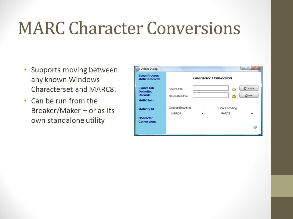 MARC Character Conversions
