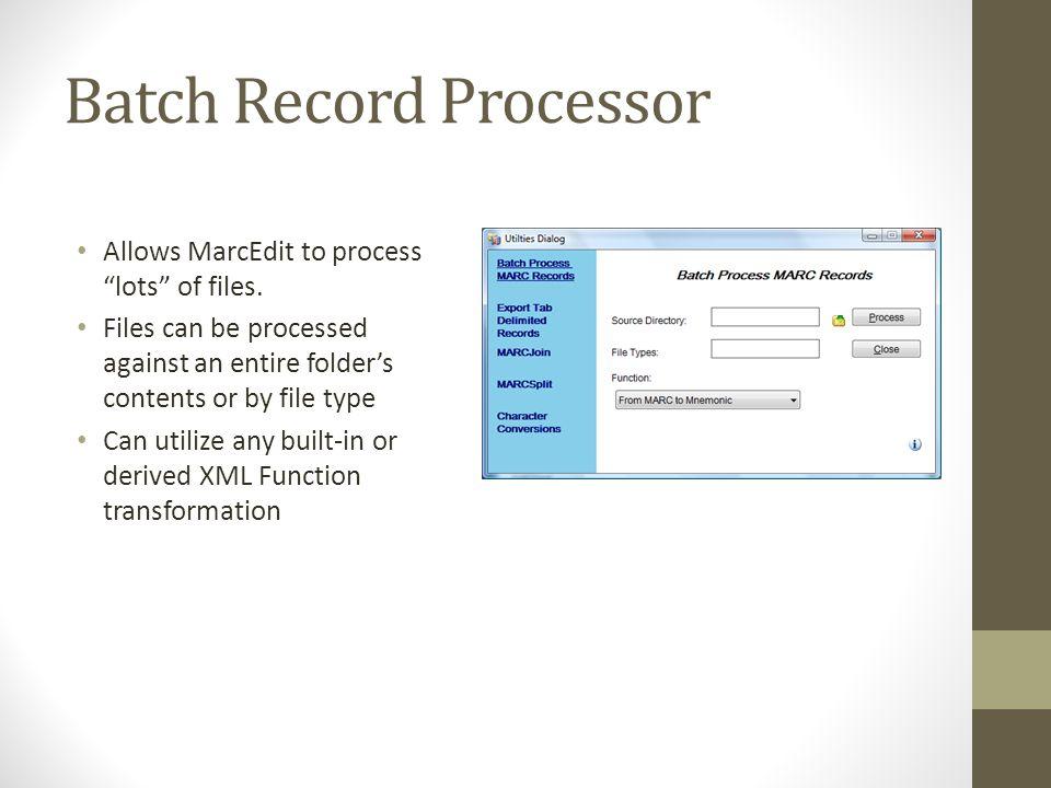 Batch Record Processor