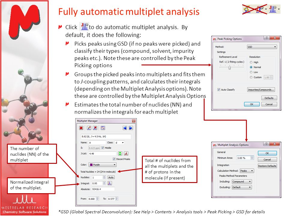 Fully automatic multiplet analysis