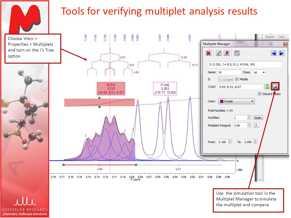 Tools for verifying multiplet analysis results