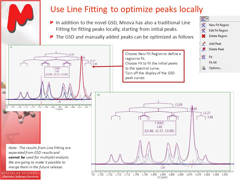 Use Line Fitting to optimize peaks locally