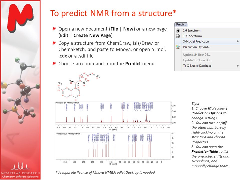 To predict NMR from a structure*