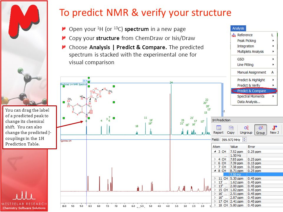 To predict NMR & verify your structure