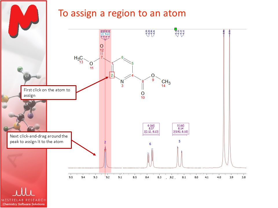 To assign a region to an atom