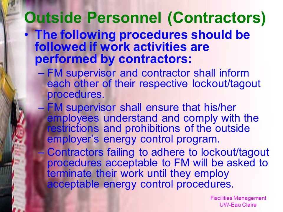 Outside Personnel (Contractors)