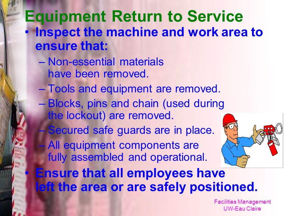 Equipment Return to Service