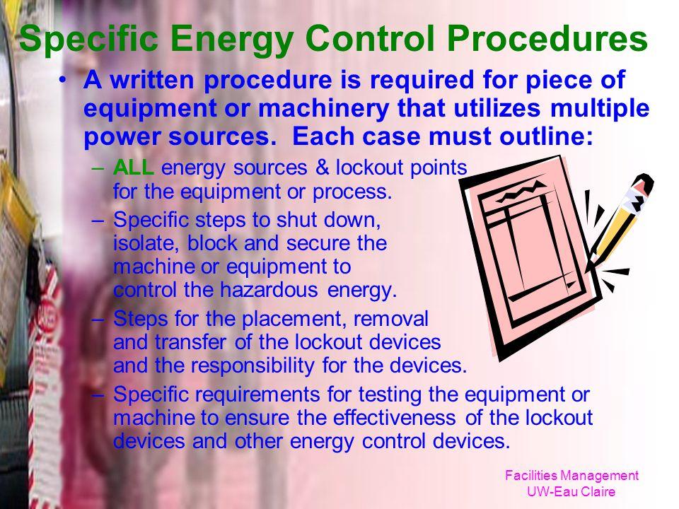 Specific Energy Control Procedures