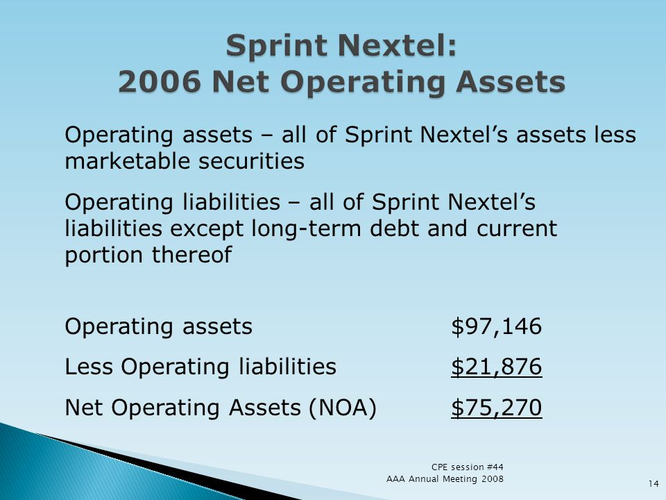 Sprint Nextel: 2006 Net Operating Assets
