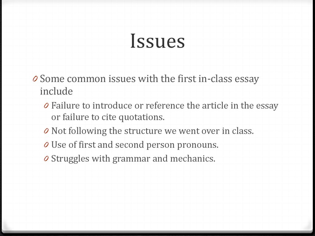 The regress problem essay