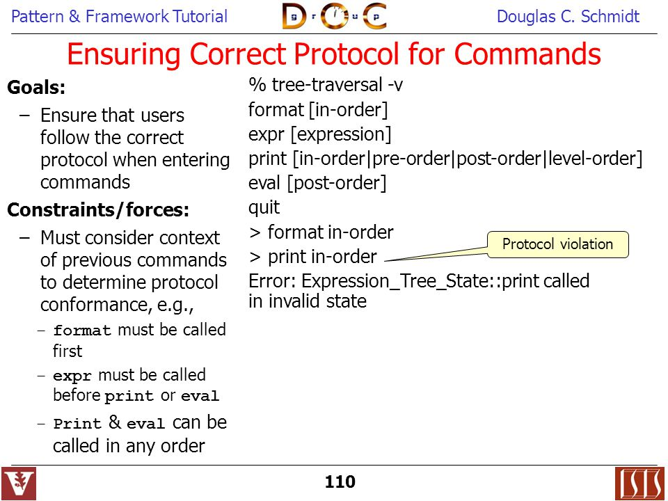 Ensuring Correct Protocol for Commands