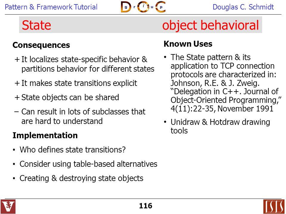 State object behavioral