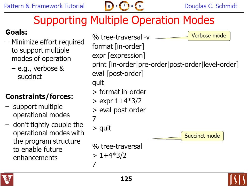 Supporting Multiple Operation Modes