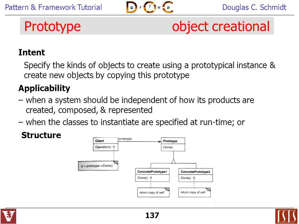 Prototype object creational
