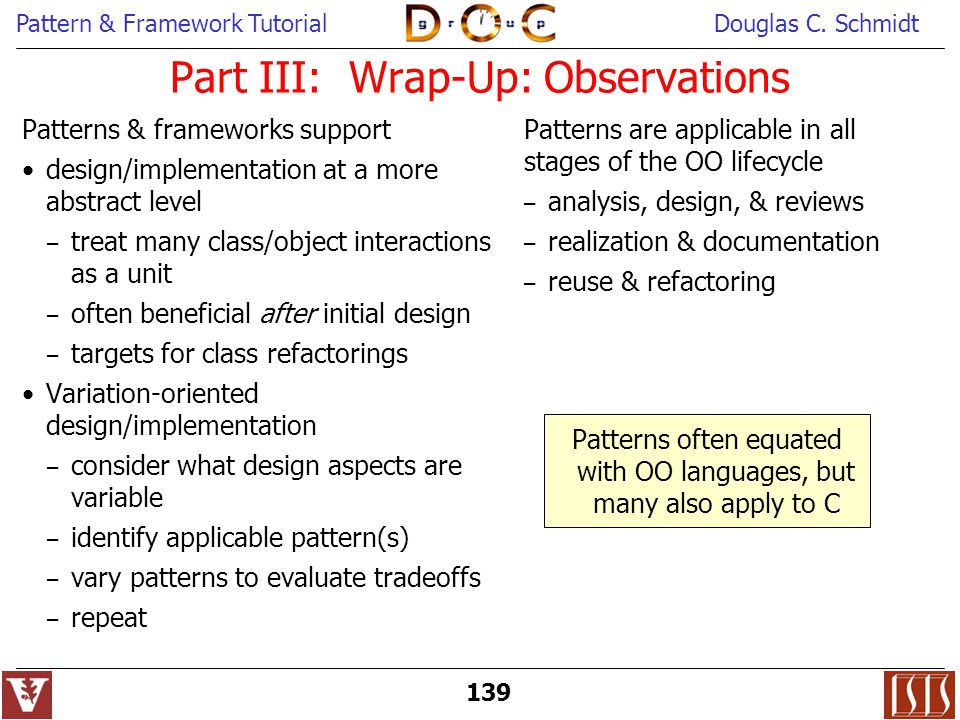 Part III: Wrap-Up: Observations