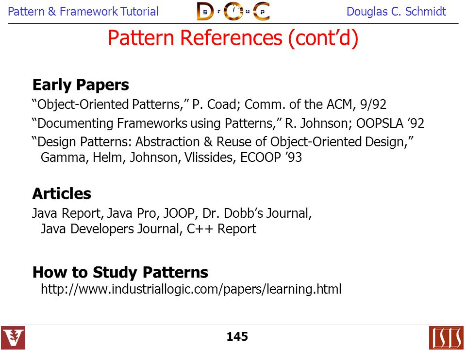 Pattern References (cont'd)