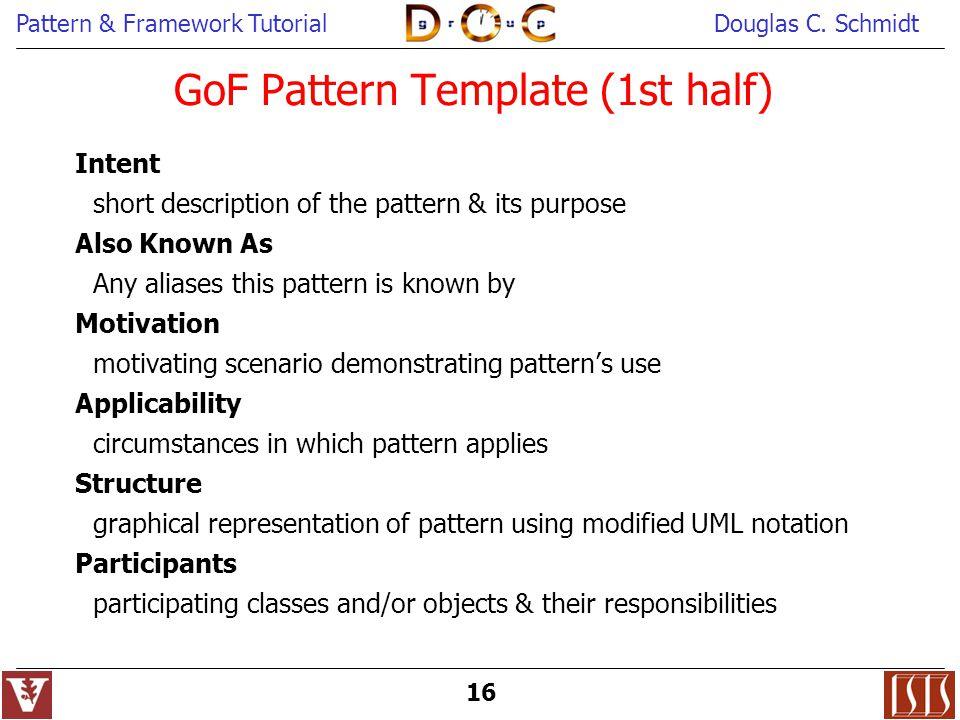 GoF Pattern Template (1st half)