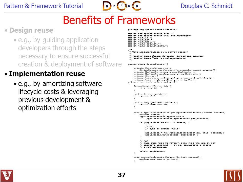 Benefits of Frameworks