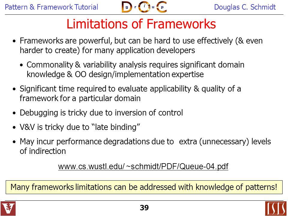 Limitations of Frameworks