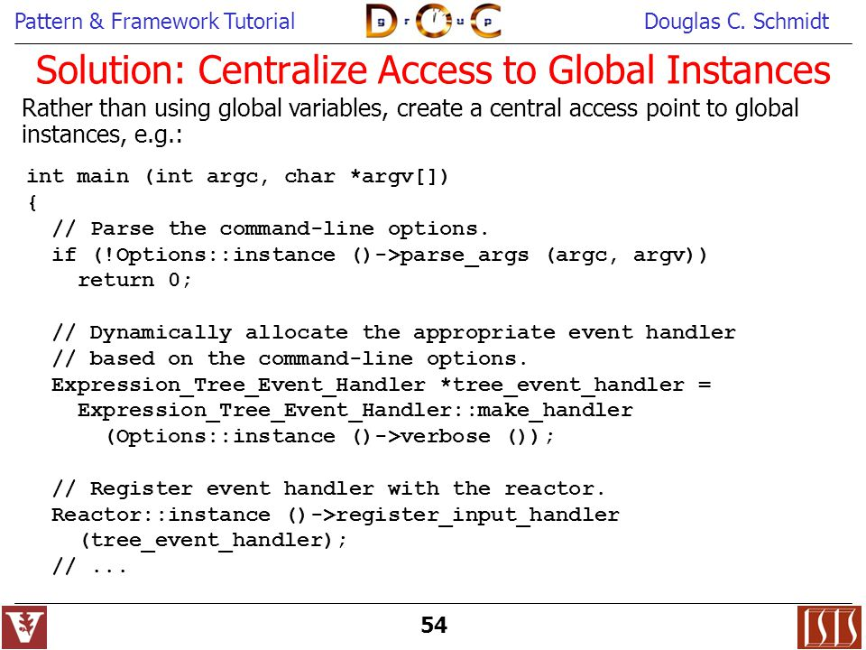 Solution: Centralize Access to Global Instances