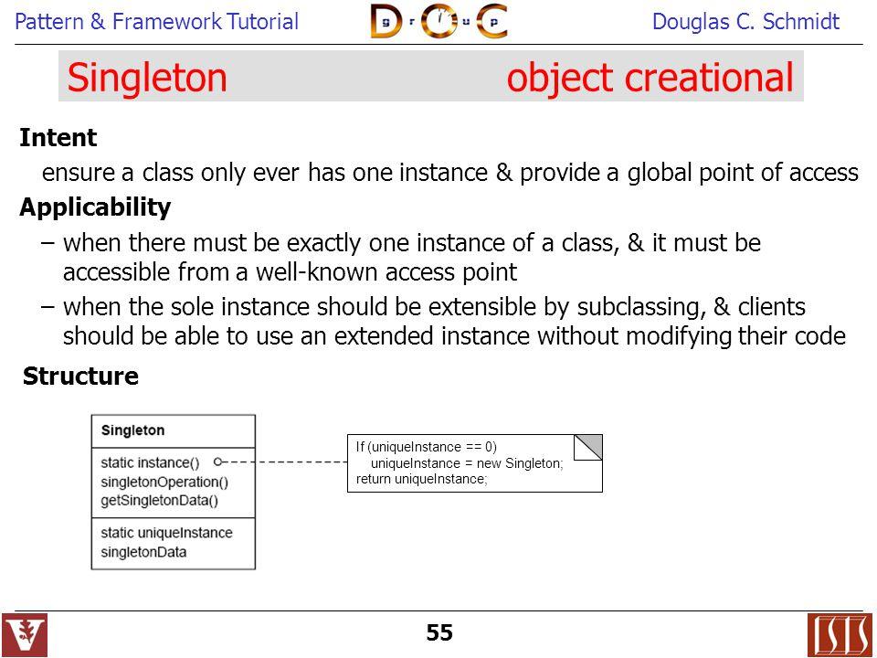 Singleton object creational