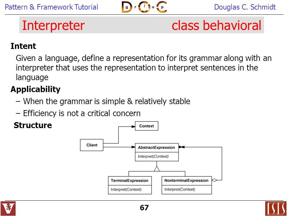 Interpreter class behavioral