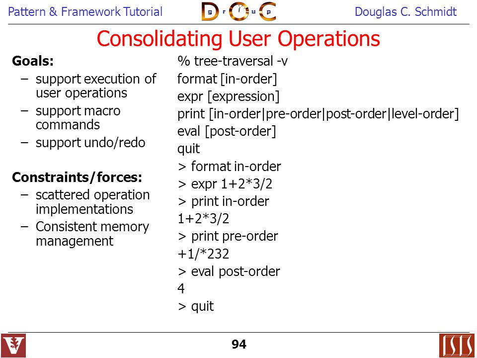 Consolidating User Operations
