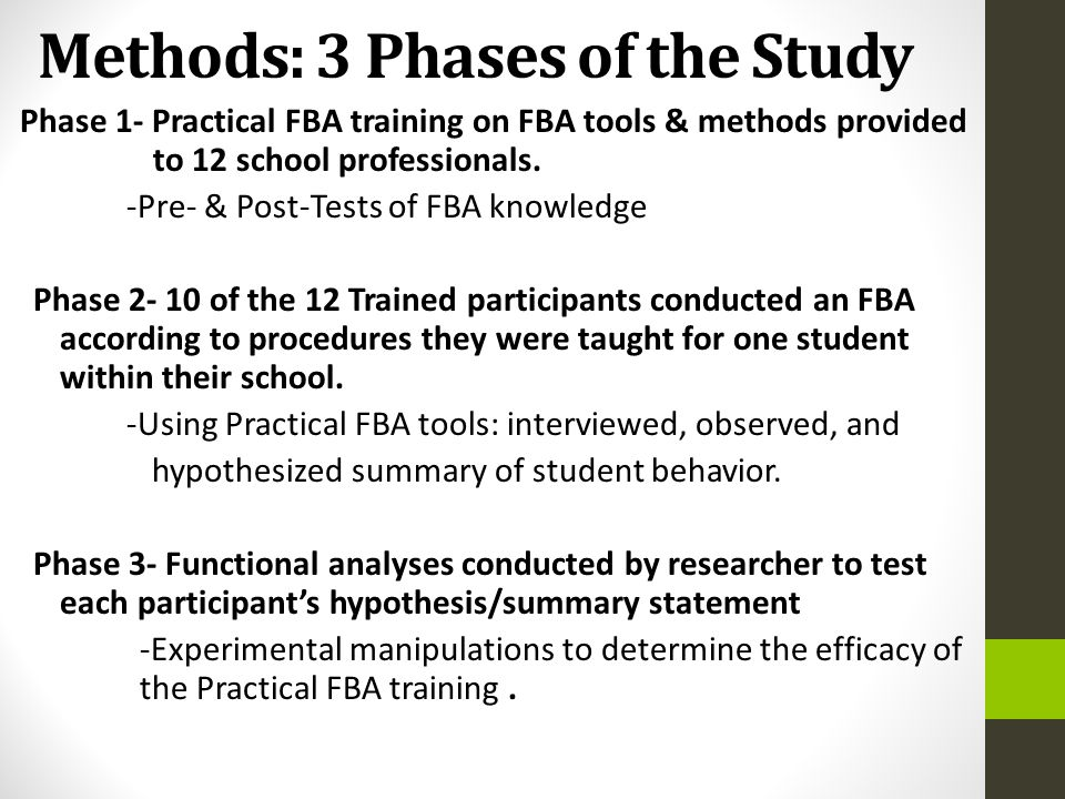 Methods: 3 Phases of the Study