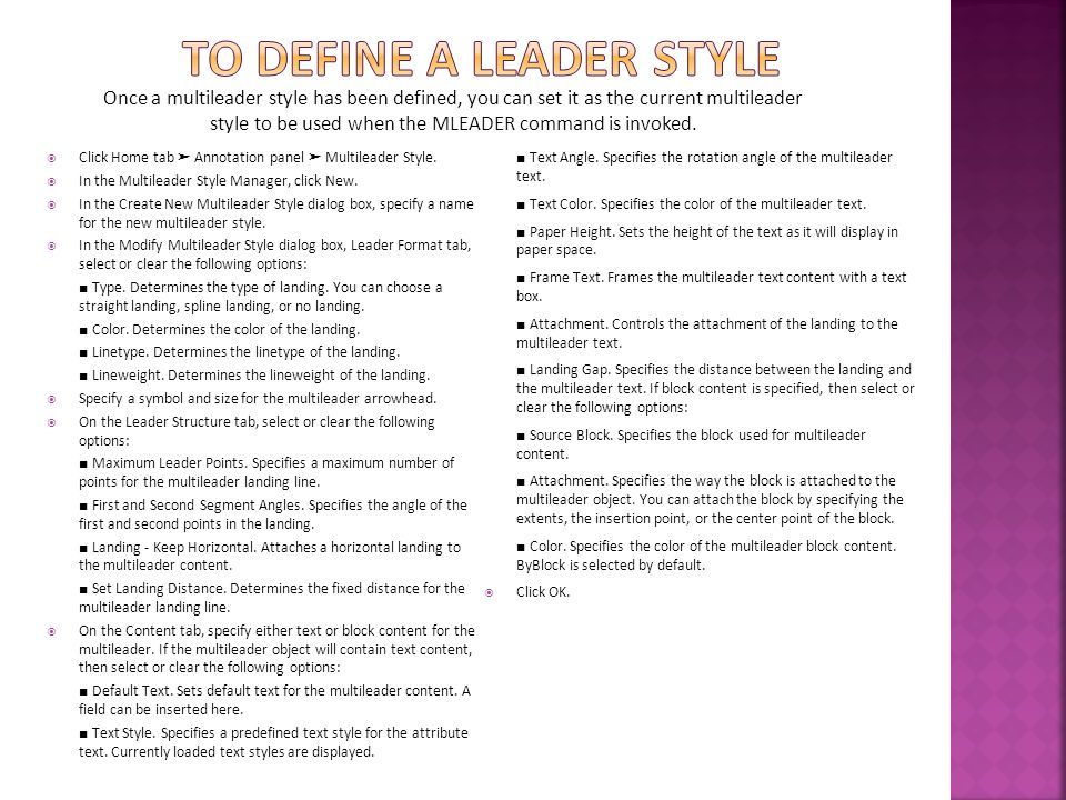 To define a leader style